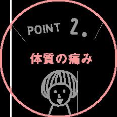 POINT.2 体質の痛み